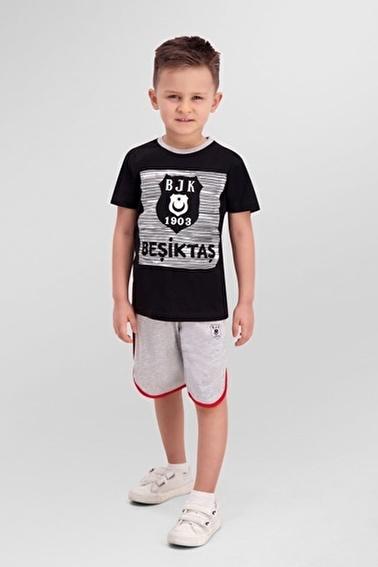 Beşiktaş Beşiktaş Lisanslı Siyah Erkek Çocuk Bermuda Takım Siyah